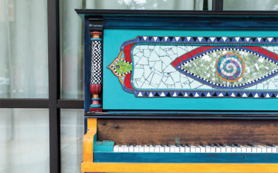 Local Teen Designs Artwork for Augusta's Newest Painted Piano